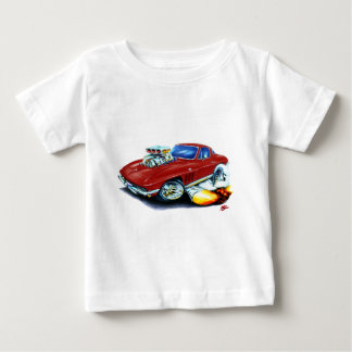 1965 Corvette Maroon Car Baby T-Shirt