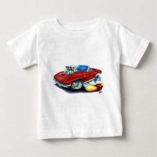 1965 Corvette Maroon Convertible Baby T-Shirt