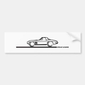 1965 Corvette Stingray Hardtop BLK Bumper Sticker