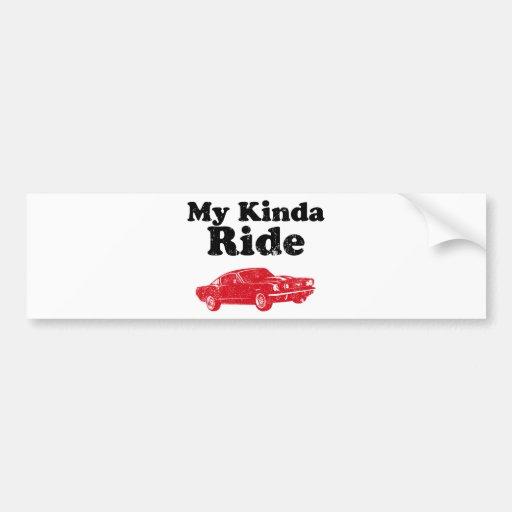 1965 Ford Mustang Fastback Bumper Sticker