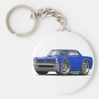 1965 GTO Blue Car Keychain