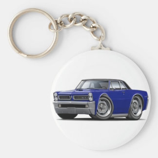 1965 GTO Dark Blue-Black Top Keychain