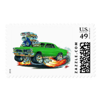 1965 GTO Green Car Postage Stamps