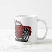 1965 GTO Maroon Car Classic White Coffee Mug