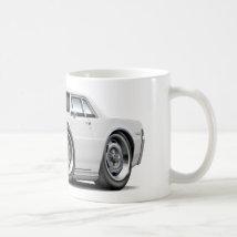 1965 GTO White Car Coffee Mug