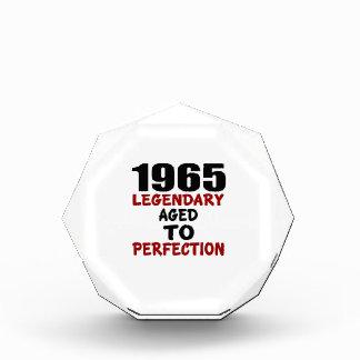 1965 LEGENDARY AGED TO PERFECTION ACRYLIC AWARD