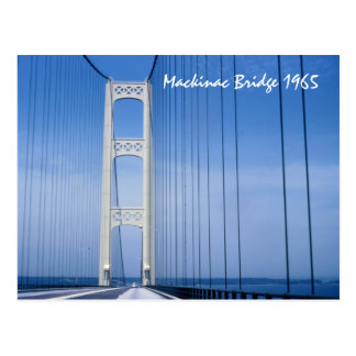 1965 Mackinac Bridge Postcard