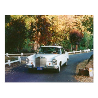 1965 Mercedes Benz 220SEb coupe  classic car Postcard