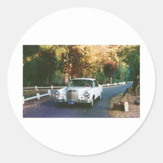 1965 Mercedes-Benz 220SEb coupe Classic Round Sticker