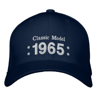 1965 or Any Year 50th Birthday A4P NAVY  BLUE Embroidered Baseball Hat