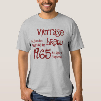 1965 or ANY YEAR Vintage Brew 50th Birthday Gray Tee Shirt