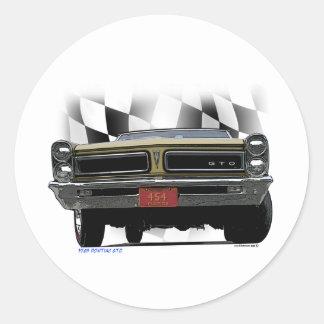 1965 Pontiac GTO Classic Round Sticker