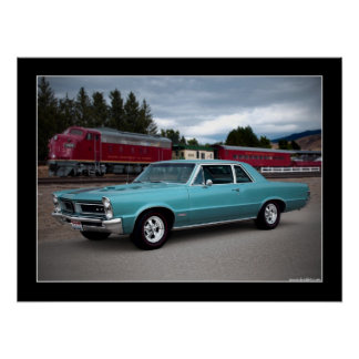 1965 Pontiac GTO Muscle Car Poster