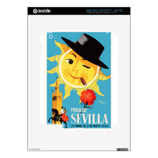 1965 Seville Spain April Fair Poster iPad 3 Skins