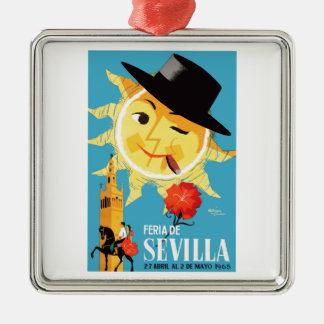 1965 Seville Spain April Fair Poster Metal Ornament