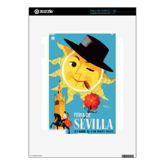 1965 Seville Spain April Fair Poster Skins For iPad 2