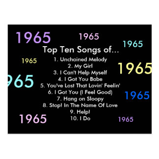 1965 Songs Postcard