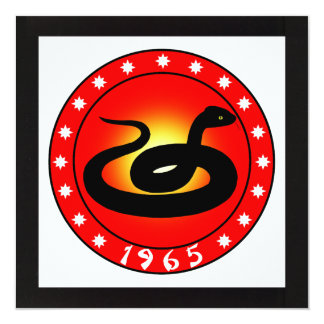 1965 Year of the Snake Card