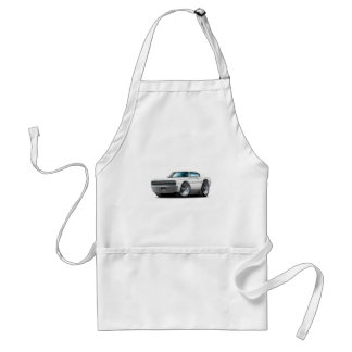 1966-67 Charger White Car Adult Apron
