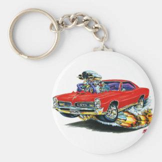 1966-67 coche del rojo de GTO Llavero Personalizado