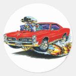 1966-67 coche del rojo de GTO Pegatinas