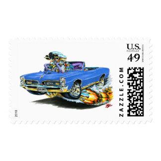 1966-67 convertible azul de GTO Sellos