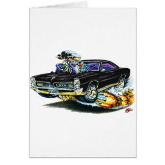 1966-67 GTO Black Car Card