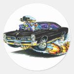 1966-67 GTO Black Car Round Stickers