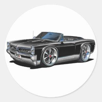 1966/67 GTO Black Convertible Classic Round Sticker