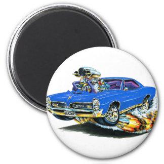1966-67 GTO Blue Car 2 Inch Round Magnet