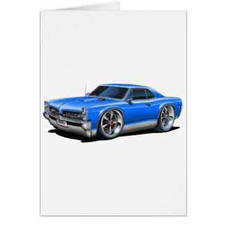 1966/67 GTO Blue Car Card