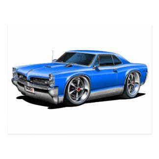 1966/67 GTO Blue Car Postcard