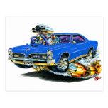 1966-67 GTO Blue Car Postcard