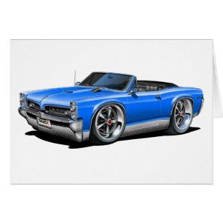 1966/67 GTO Blue Convertible Card