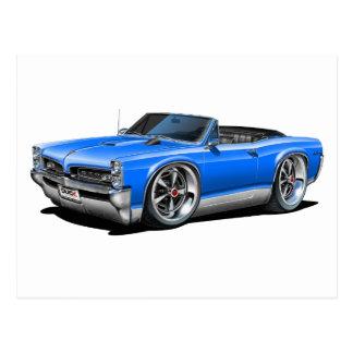 1966/67 GTO Blue Convertible Postcard