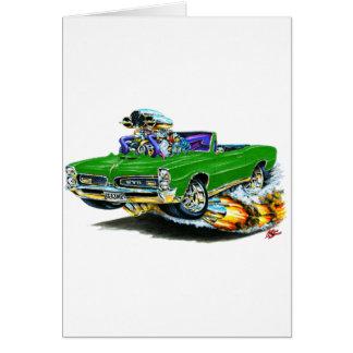 1966-67 GTO Green Convertible Card