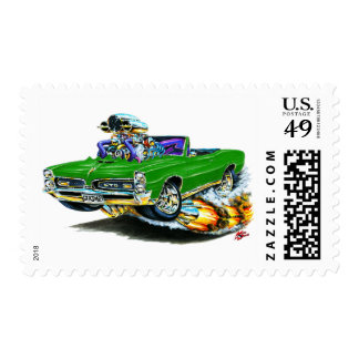1966-67 GTO Green Convertible Stamp