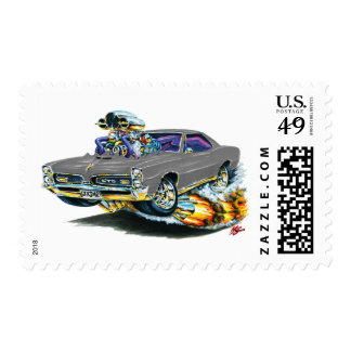 1966-67 GTO Grey Car Postage Stamps