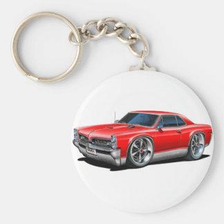 1966/67 GTO Red Car Basic Round Button Keychain