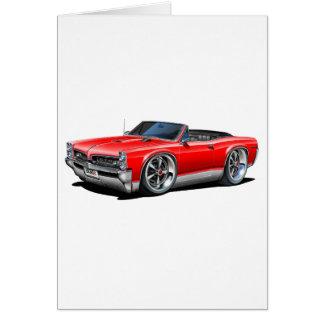 1966/67 GTO Red Car Card