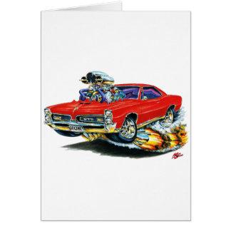 1966-67 GTO Red Car Card