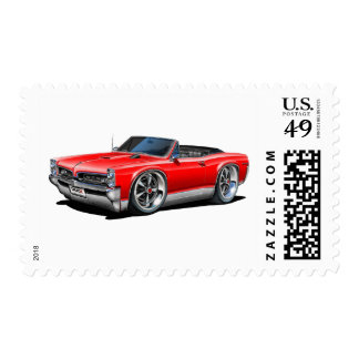 1966/67 GTO Red Car Postage Stamp