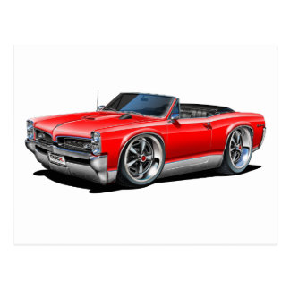 1966/67 GTO Red Car Postcard