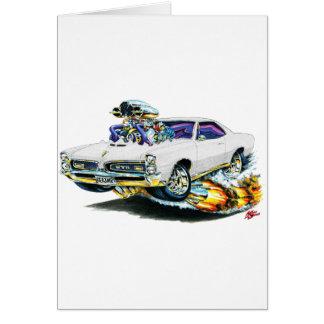 1966-67 GTO White Car Card