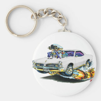 1966-67 GTO White Car Keychain
