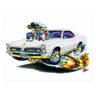 1966-67 GTO White Car Postcard