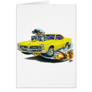 1966-67 GTO Yellow Car Card
