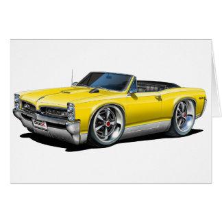 1966/67 GTO Yellow Convertible Card