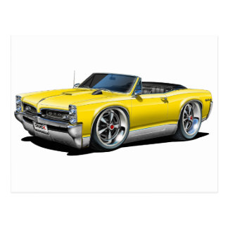 1966/67 GTO Yellow Convertible Postcard