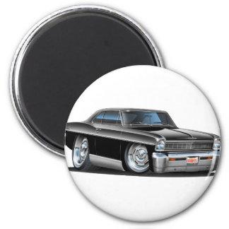 1966-67 Nova Black Car 2 Inch Round Magnet